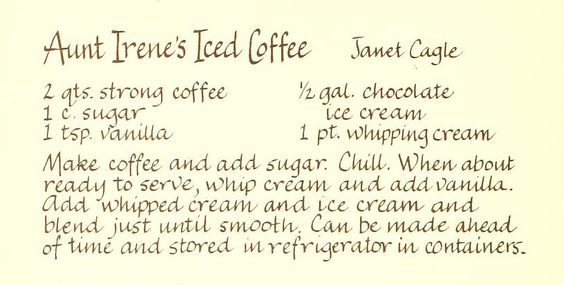 Aunt Irene's Iced Coffee - Heavenly Delights
