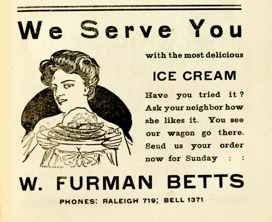 Ice Cream Ad Ad - The Raleigh Cook Book