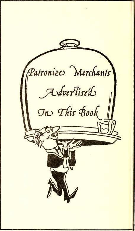 USE Patronize Merchants Advertized in this Book - Fries Memorial Moravian Church