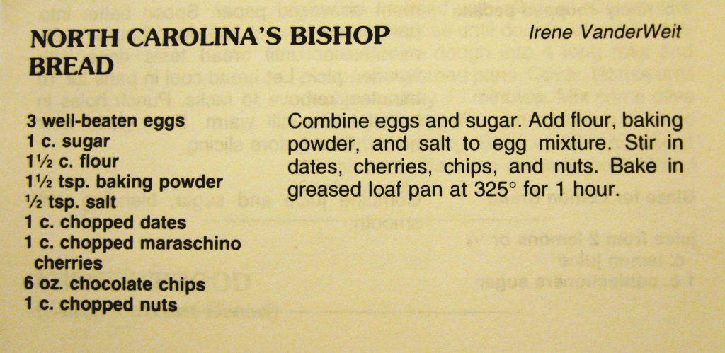 North Carolina's Bishop Bread - Welkom