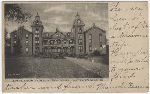 littleton college postcard