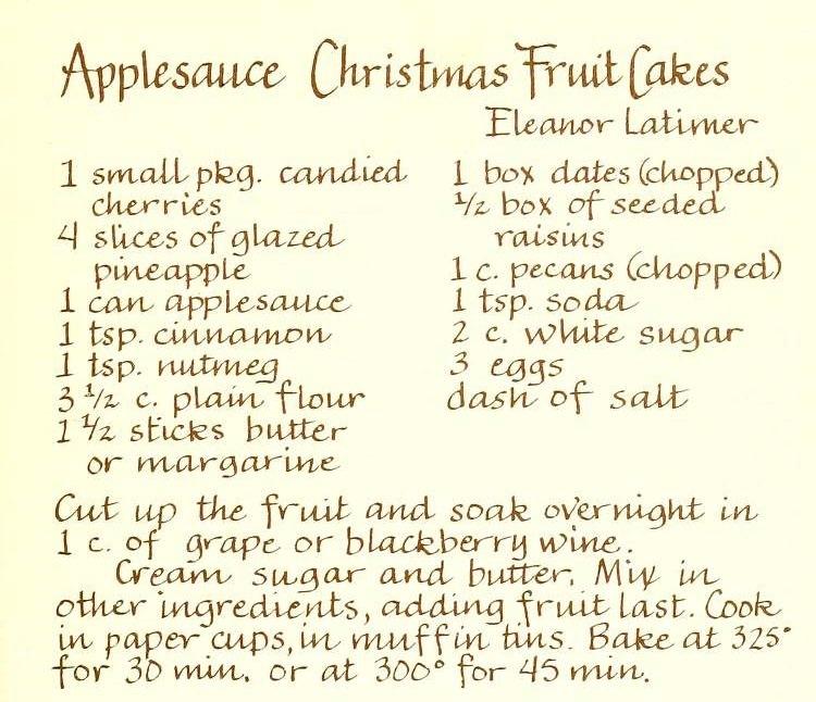 Applesauce Christmas Fruit Cakes - Heavenly Delights