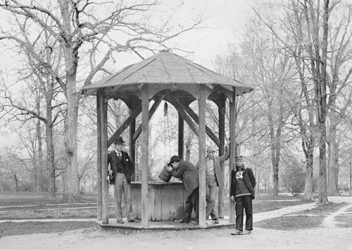 Restored image of Old Well. Image is from the Battle photo album.