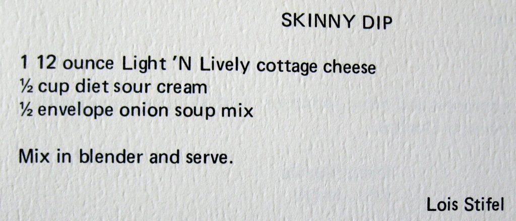 Skinny dip - Classic Cookbook of Duke Hospital