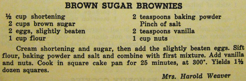 Brown sugar brownies - Carolina Cooking