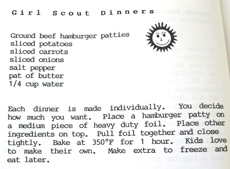Girl Scout Dinners-Slices of Sunlight