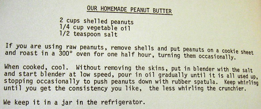 USED 3-1-15 Our Homemade Peanut Butter-Our Own Kitchen Survival Kit