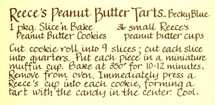 USED 3-1-15 Reece's Peanut Butter Tarts - Heavenly Delights