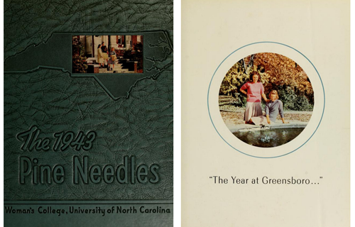 The cover and front page of the 1943 yearbook.