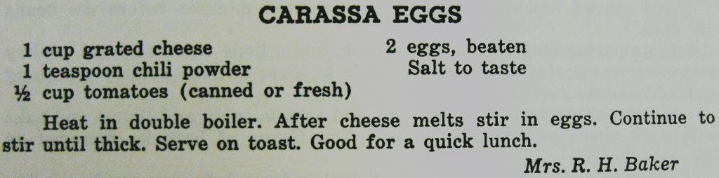 USE Carassa eggs - Carolina Cooking