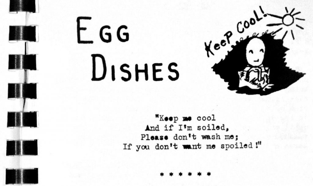 USED 6-25-15 Egg Dishes Poem - Federation of Home Demonstration Clubs Favorite Recipes