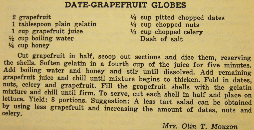 Date-grapefruit globes - Carolina Cooking