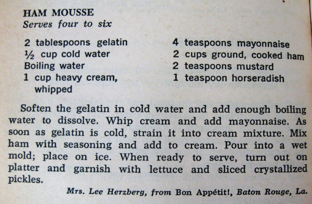 Ham Mousse - Southern Cookbook