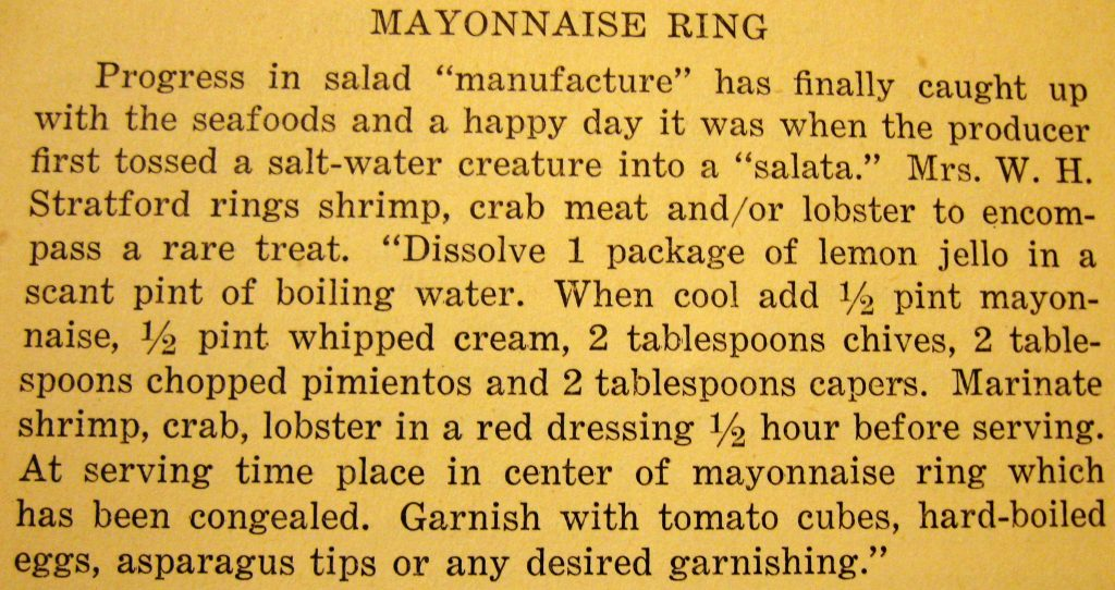 Mayonaise ring - Soup to Nuts