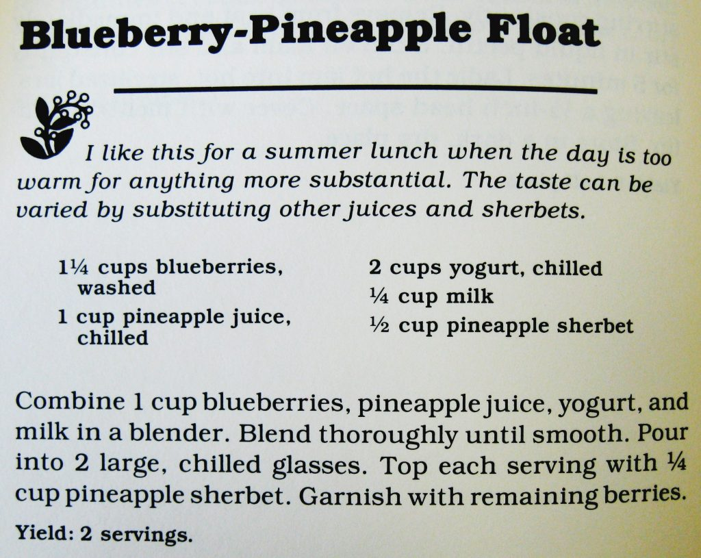 USED 7-9-15 Blueberry Pineapple Float-Cooking with Berries