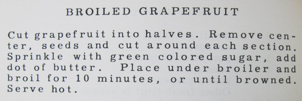 USED 7-9-15 Broiled Grapefruit - Given to Hospitality