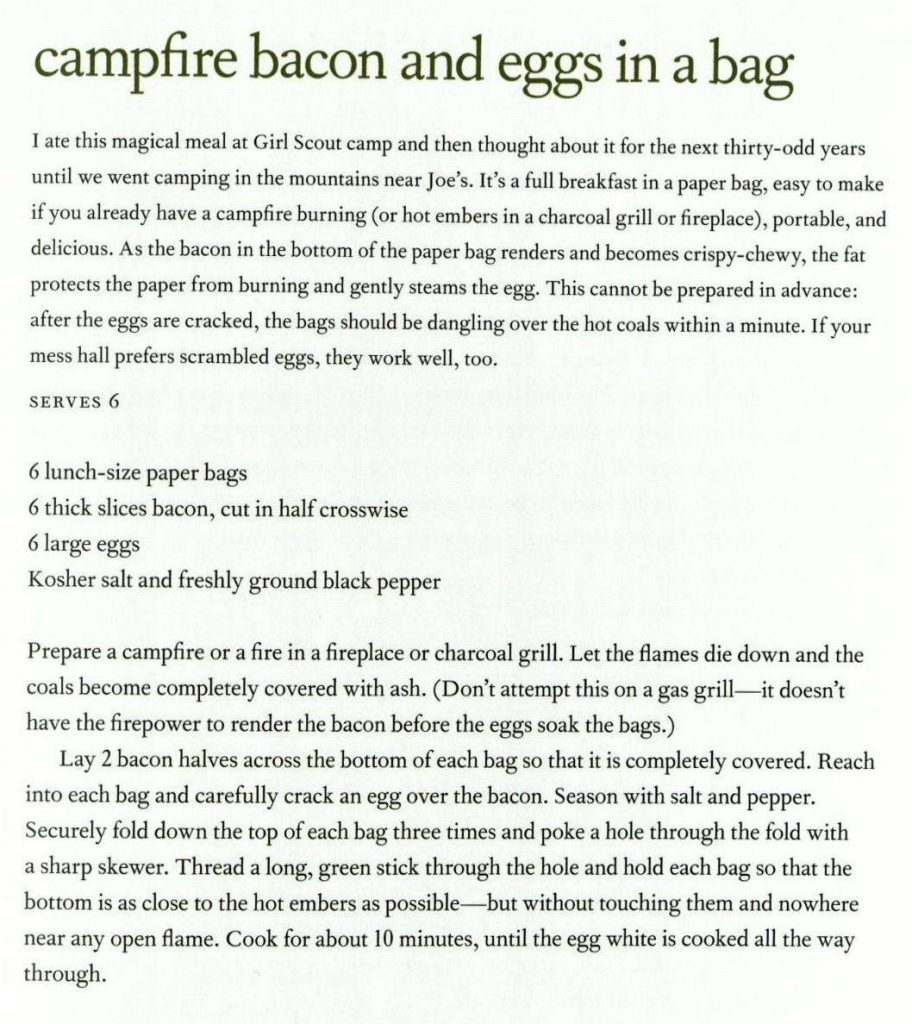 USED 9-23-15 Campfire Bacon and Eggs in a Bag - Cooking in the Moment