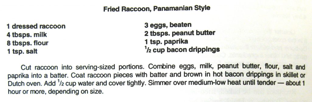 Fried Racoon, Panamanian Style-The Wild and Free Cookbook