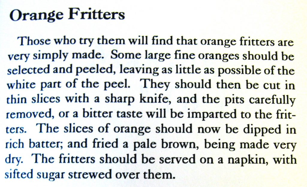 Orange Fritters - Keepers of the Hearth
