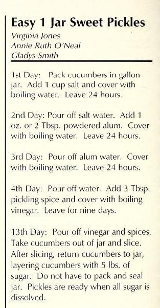 Easy 1 Jar Sweet Pickles - Heavenly Helpings