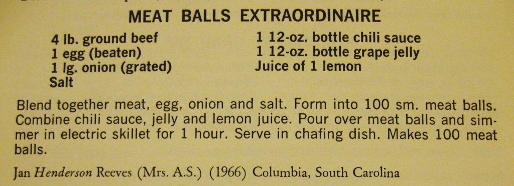 Meat Balls Extraordinaire - Peace Cookbook