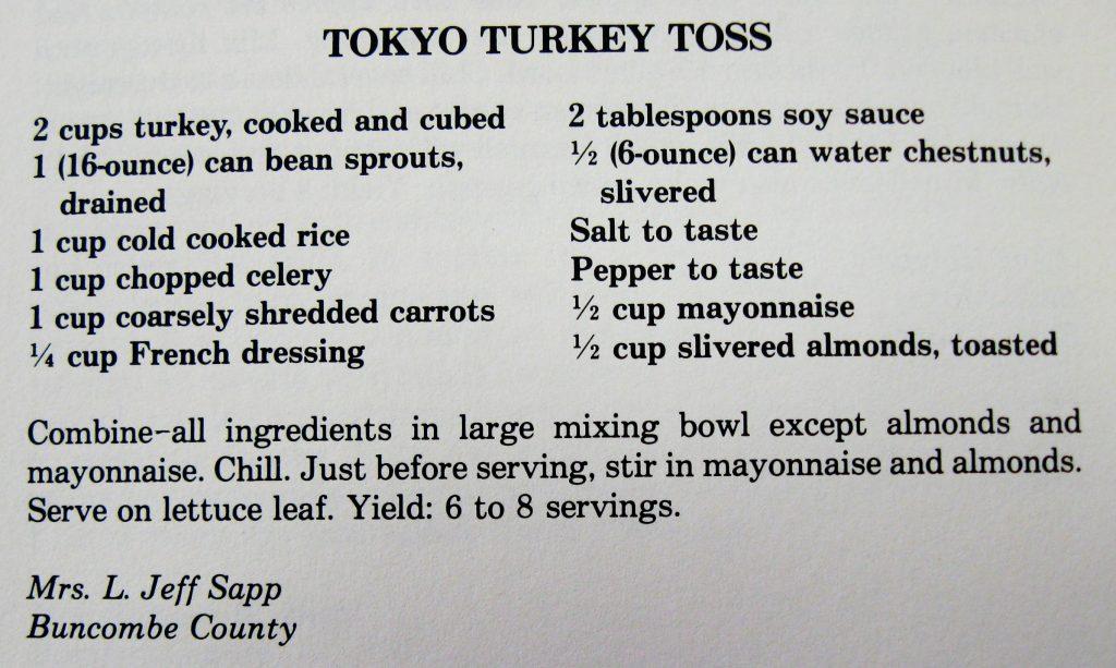 Tokyo Turkey Toss - Company's Coming