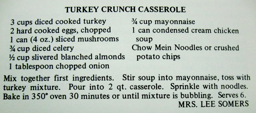 Turkey Crunch Casserole - A Taste of the Old and the New