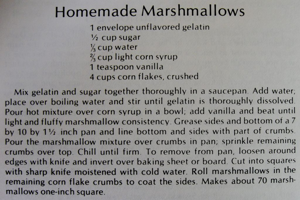 USED 12-22-15 Homemade Marshmallows - Koerner's Folly Cookbook