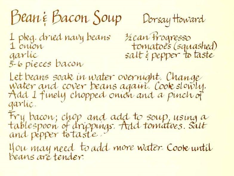 Bean & Bacon Soup - Heavenly Delights