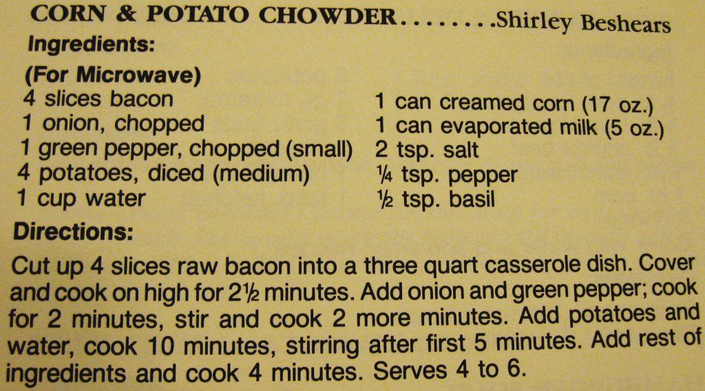 Corn & potato chowder - Buffet Benny's