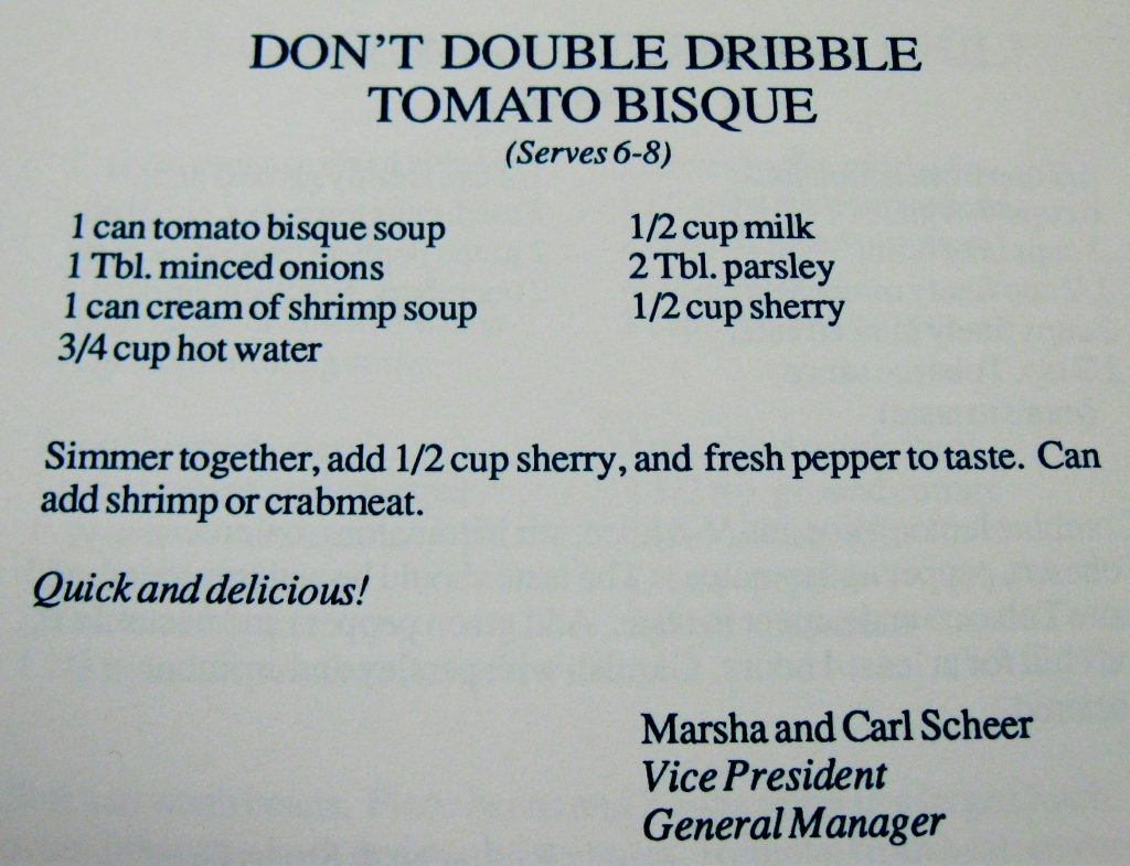 Don't Double Dribble Tomato Bisque - Hornets Homecooking