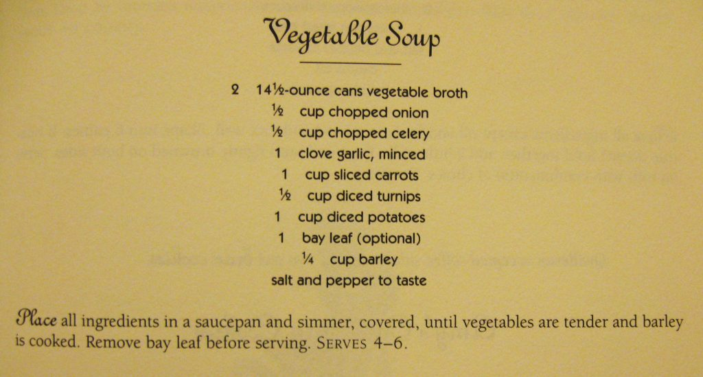 Vegetable Soup - The Cat Who...Cookbook