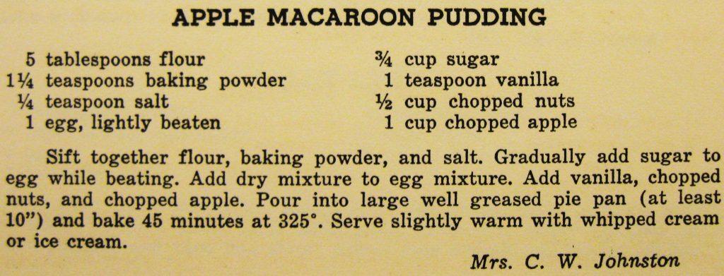 Apple macaroon pudding - Carolina Cooking