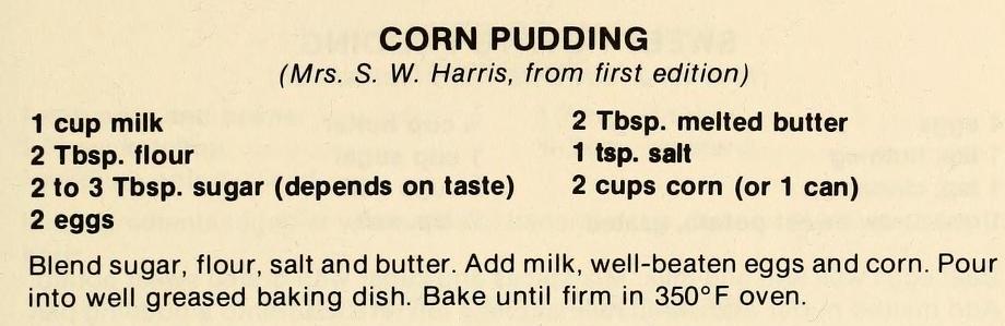 Corn Pudding-The Pantry Shelf