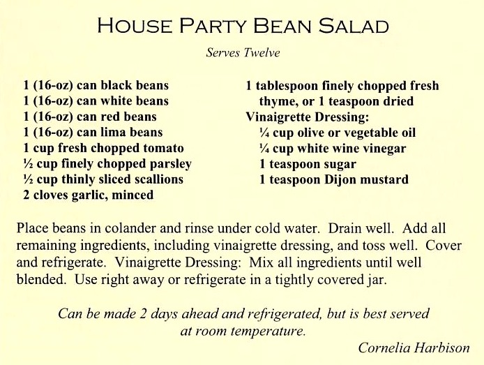 House Party Bean Salad - Count Our Blessings