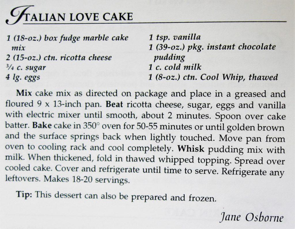 Italian Love Cake - Cooking on the Cutting Edge