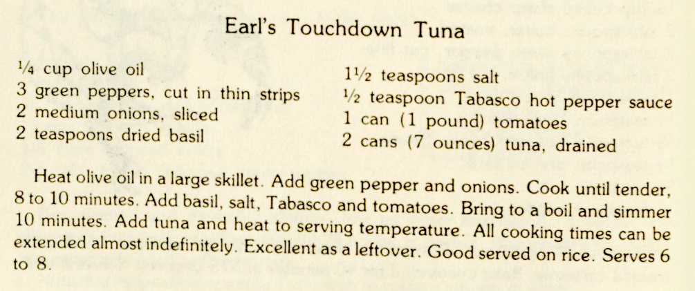 USE Earl's Touchdown Tuna-A Source of Much Pleasure