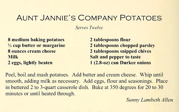 USED 2-18-16 Aunt Jannie's Company Potatoes - Count Our Blessings