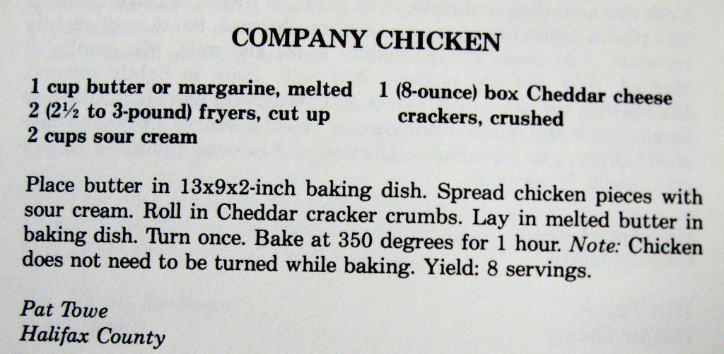 USED 2-18-16 Company Chicken - Company's Coming