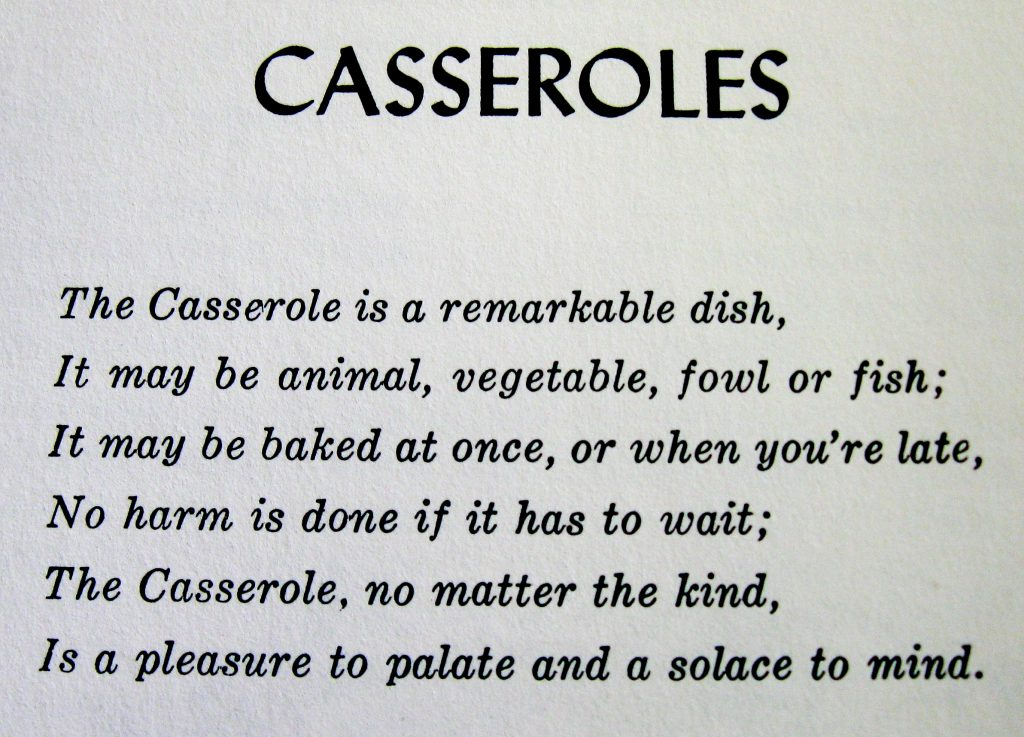 Casseroles Poem-Favorite Recipes of the Lower Cape Fear