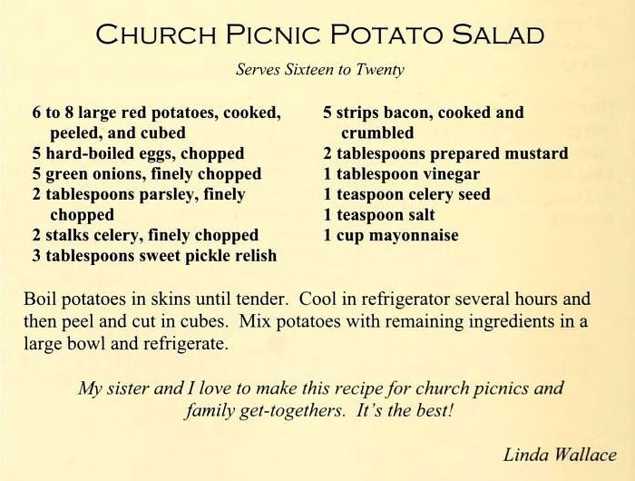 Church Picnic Potato Salad - Count Our Blessings