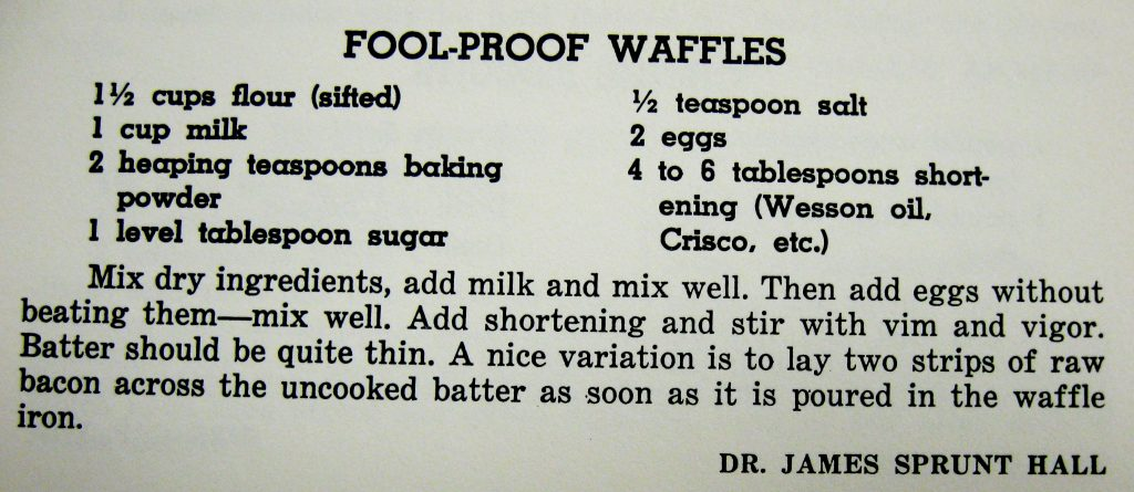 Fool-proof Waffles - Favorite Recipes of the Lower Cape Fear