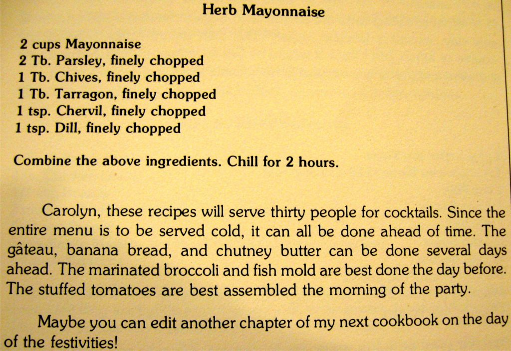 Herb mayonnaise - Foods Flavored for Friends