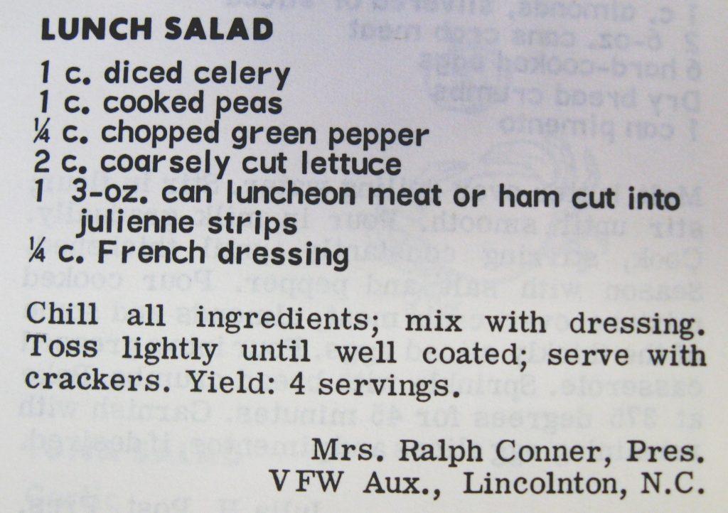 Lunch Salad - Favorite Recipes of the Carolinas