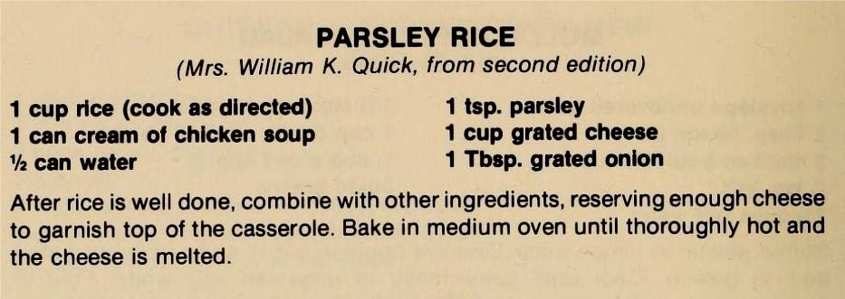 Parsley Rice-The Pantry Shelf