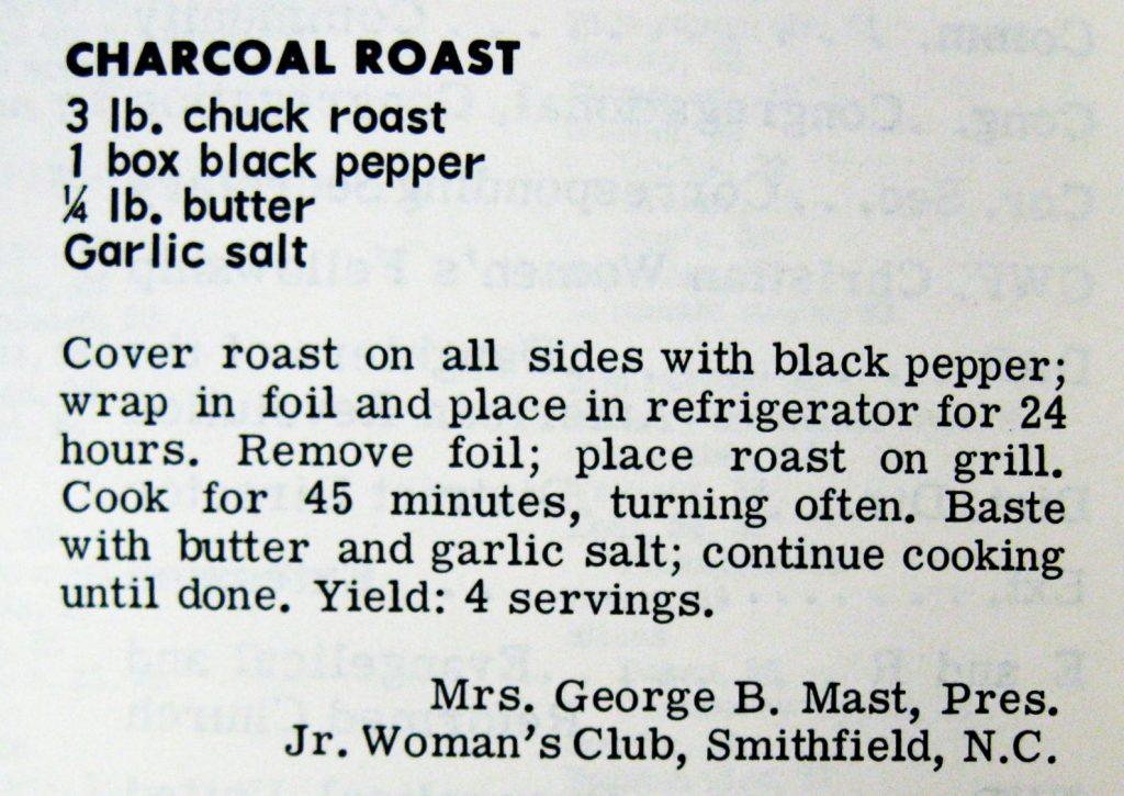 Charcoal Roast - Favorite Recipes of the Carolinas