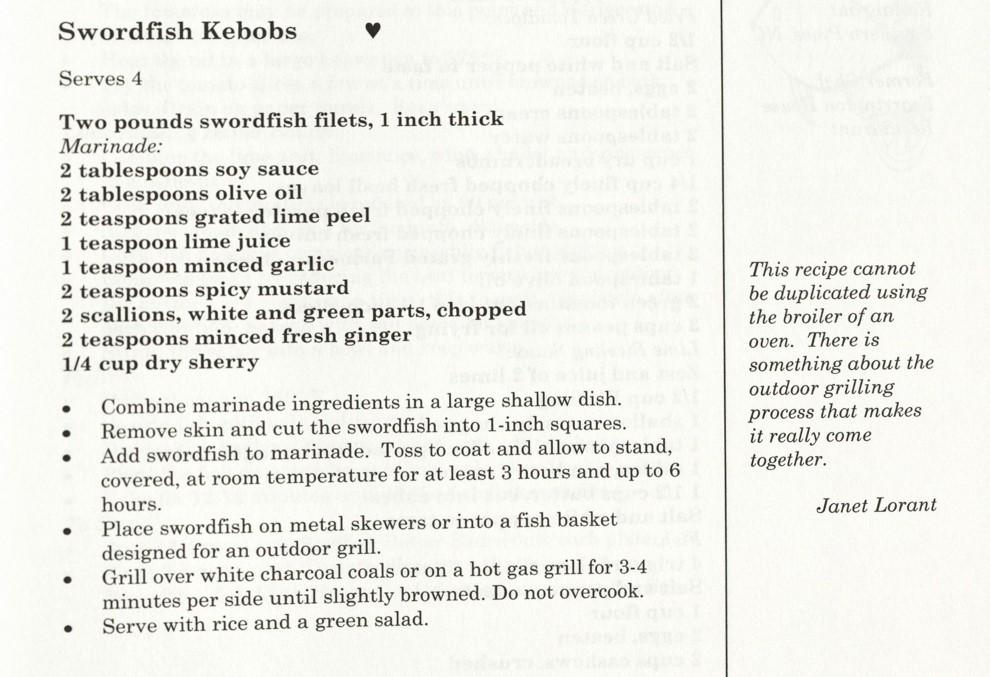 Swordfish Kebobs - Flavors of Fearrington