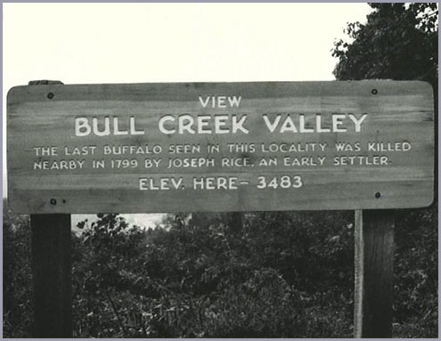 Bull Creek Valley, Milepost 373 of the Blue Ridge Parkway.
