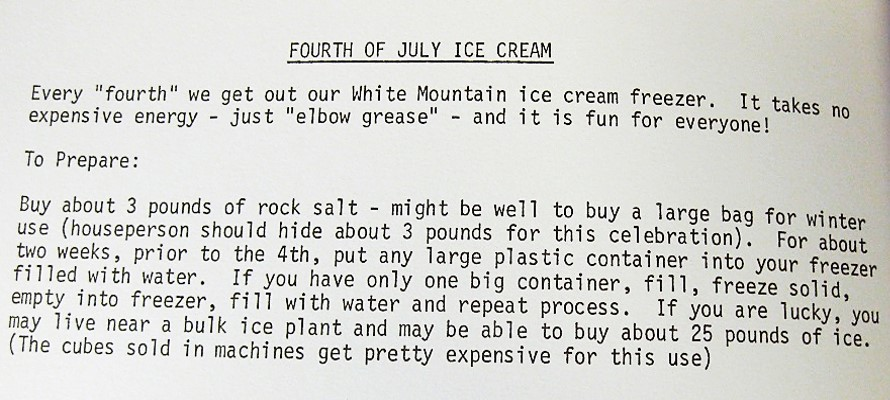 Fourth of July Ice Cream-Our Own Kitchen Survival Kit