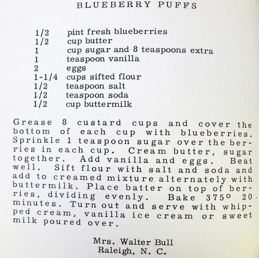 Blueberry Puffs - Given to Hospitality